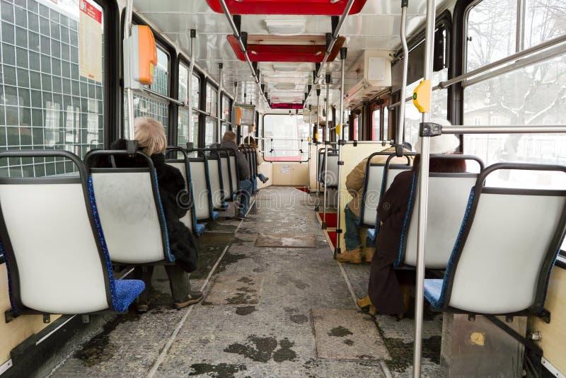 Download Inside tram. editorial photo. Image of inside, track - 28654521