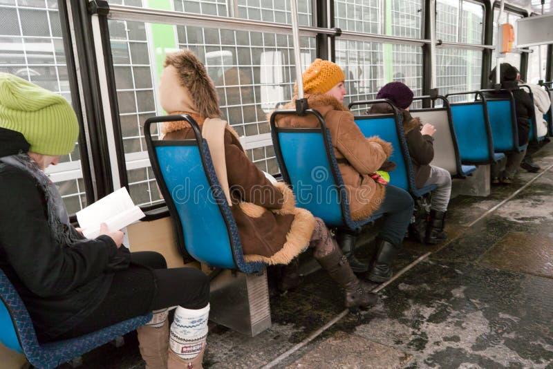 Inside tramwaj.