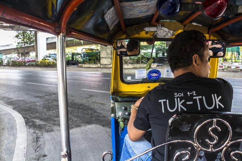 Inside Tuk-Tuk w Bangkok fotografia stock