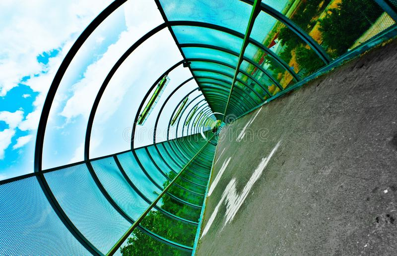 Inside a tunnel royalty free stock photo