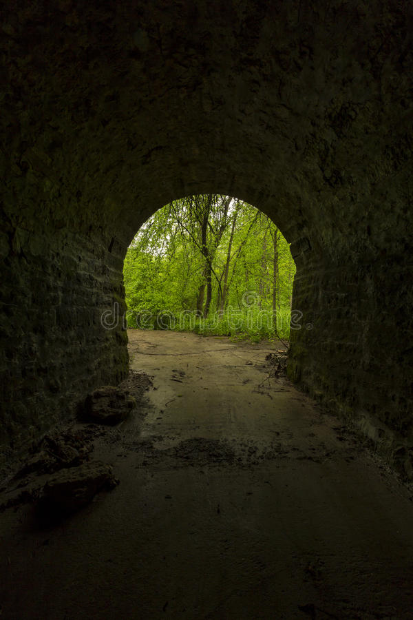 Inside Tunnel To Woods stock photography