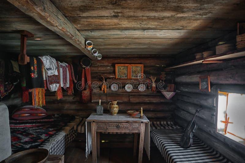 Inside of ukrainian traditional house. Ukraine royalty free stock photos