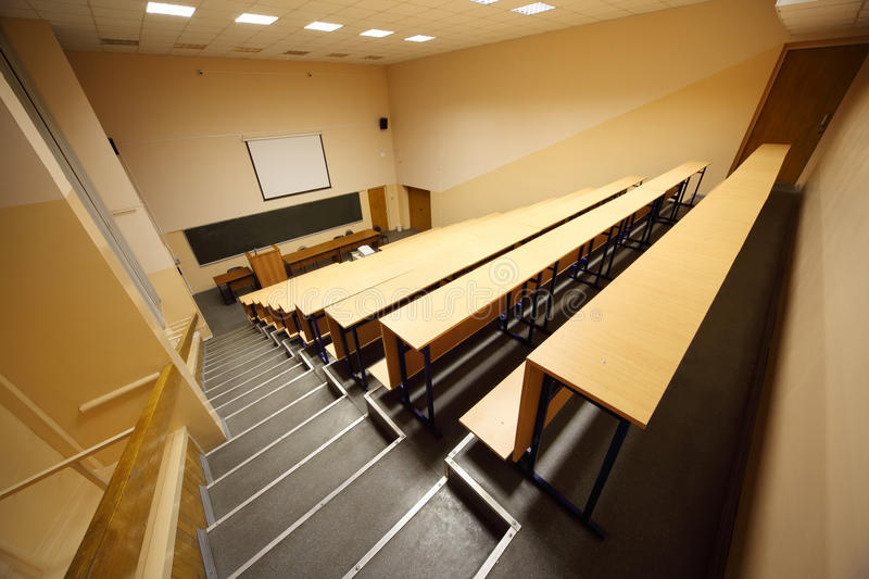 Inside university lecture hall royalty free stock images