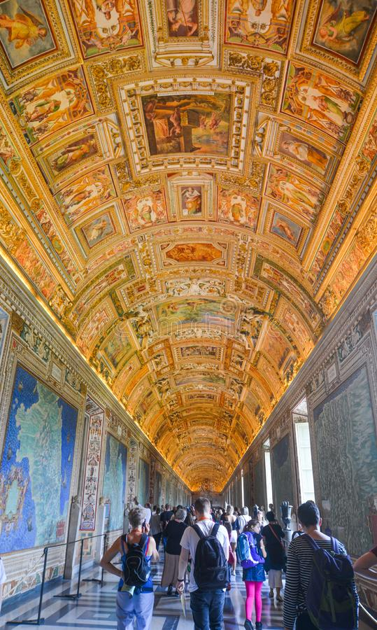 Inside the Vatican Museums stock photo