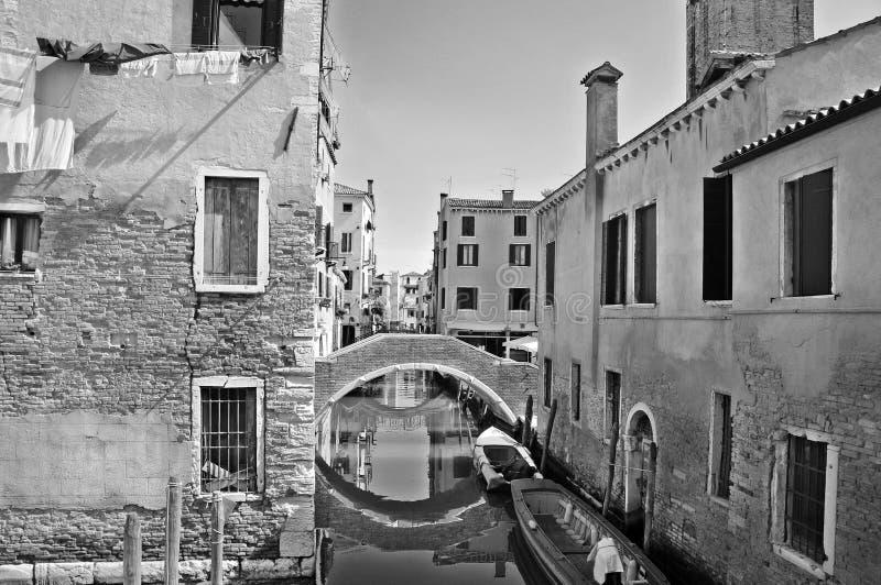Inside Venice street stock photography