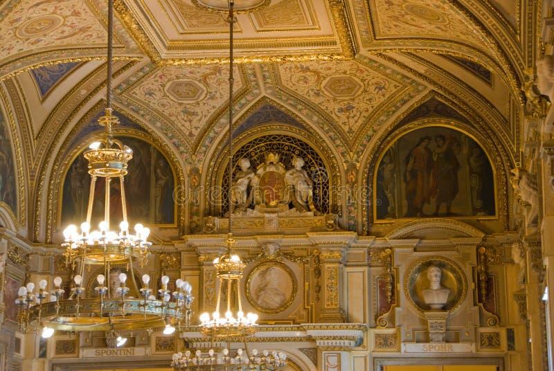 Inside Vienna Opera stock photos