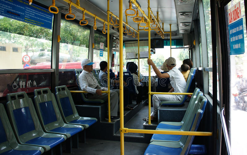 Inside vietnam bus editorial photography image of for Interno autobus