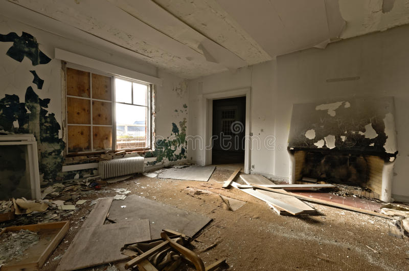 Download Inside View Of An Abandoned House Stock Photo - Image of broke, damaged: 22465146