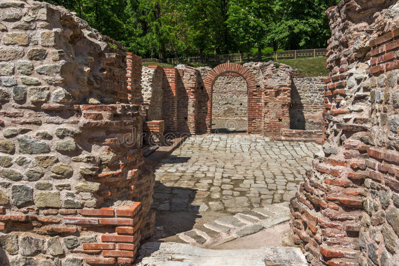 Inside view of The ancient Thermal Baths of Diocletianopolis, town of Hisarya, Bulgaria. Inside view of The ancient Thermal Baths of Diocletianopolis, town of royalty free stock photography