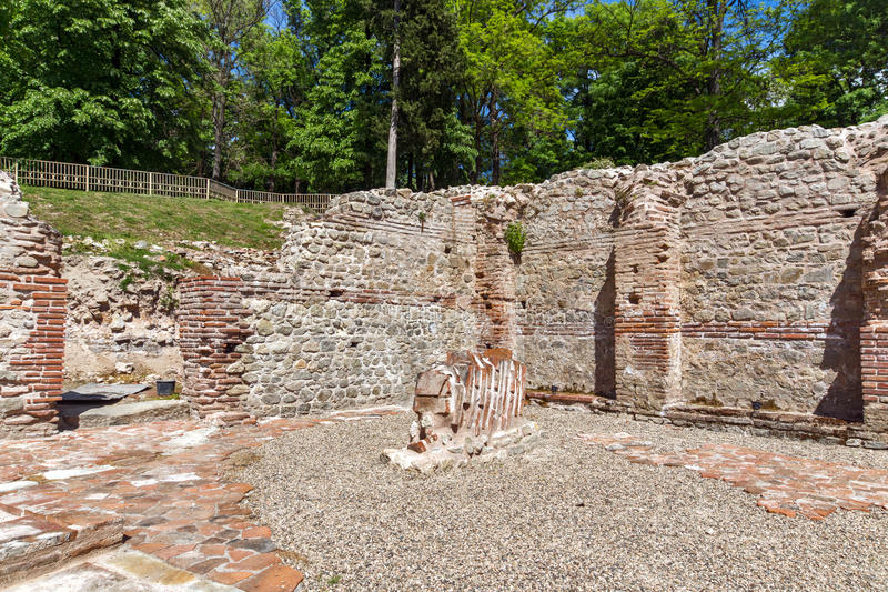 Inside view of The ancient Thermal Baths of Diocletianopolis, town of Hisarya, Bulgaria. Inside view of The ancient Thermal Baths of Diocletianopolis, town of royalty free stock image