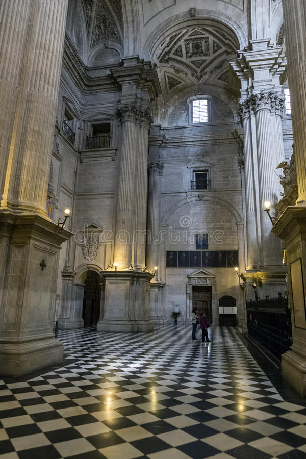 Inside view of the Cathedral in Jaen, also called Assumption royalty free stock images