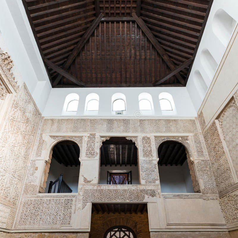 Inside view of Cordoba Synagogue royalty free stock photography