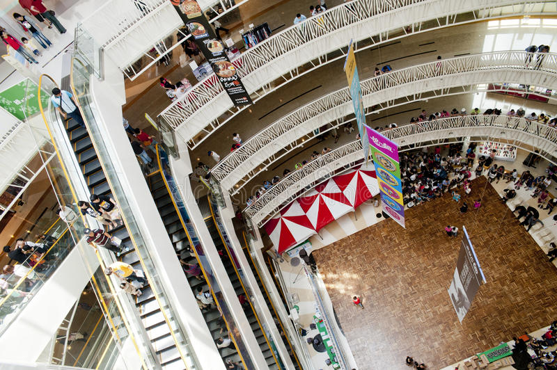 Inside view of department store royalty free stock image