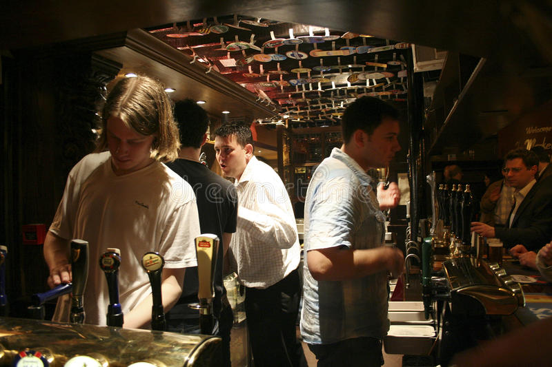 Inside view of a english pub stock photo