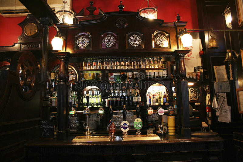 Inside view of a english pub royalty free stock images