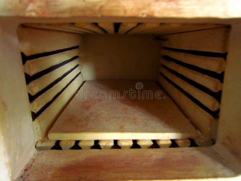 Inside view of a muffle laboratory furnace royalty free stock photo