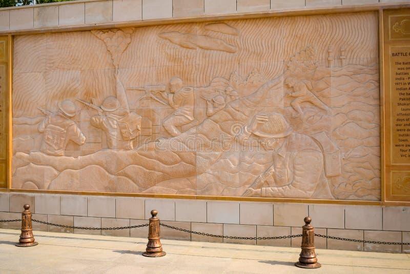 Inside view of National War Memorial in Delhi India, War Memorial full view during evening royalty free stock image
