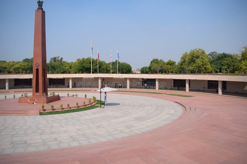 Inside view of National War Memorial in Delhi India, War Memorial full view during evening stock photos