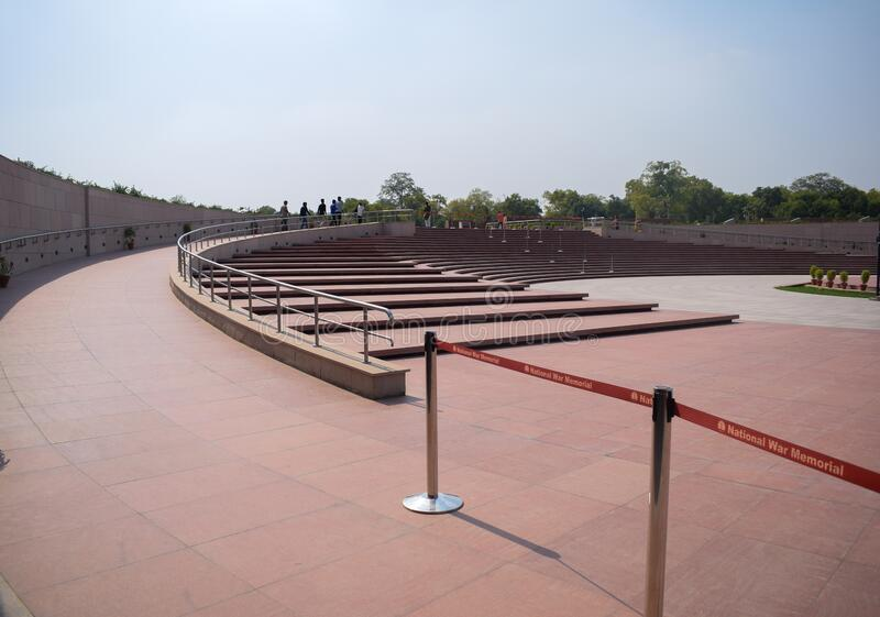 Inside view of National War Memorial in Delhi India, War Memorial full view during evening royalty free stock photography