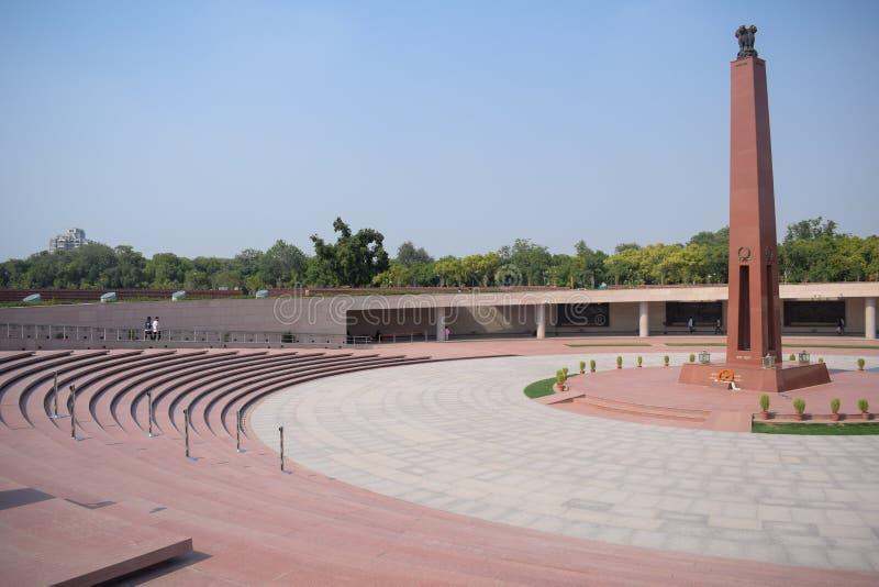 Inside view of National War Memorial in Delhi India, War Memorial full view during evening stock image