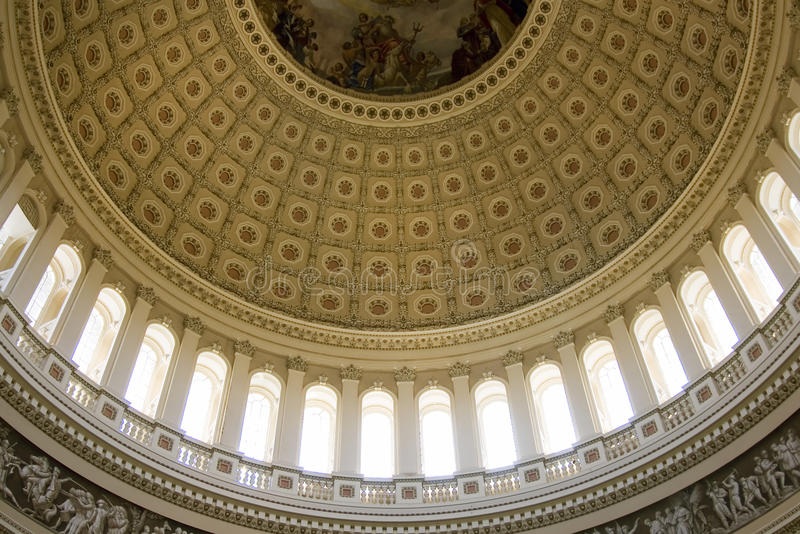 Inside view on the rotunda ceiling of us capitol stock photo image 12409258 for Interior painting harrisburg pa