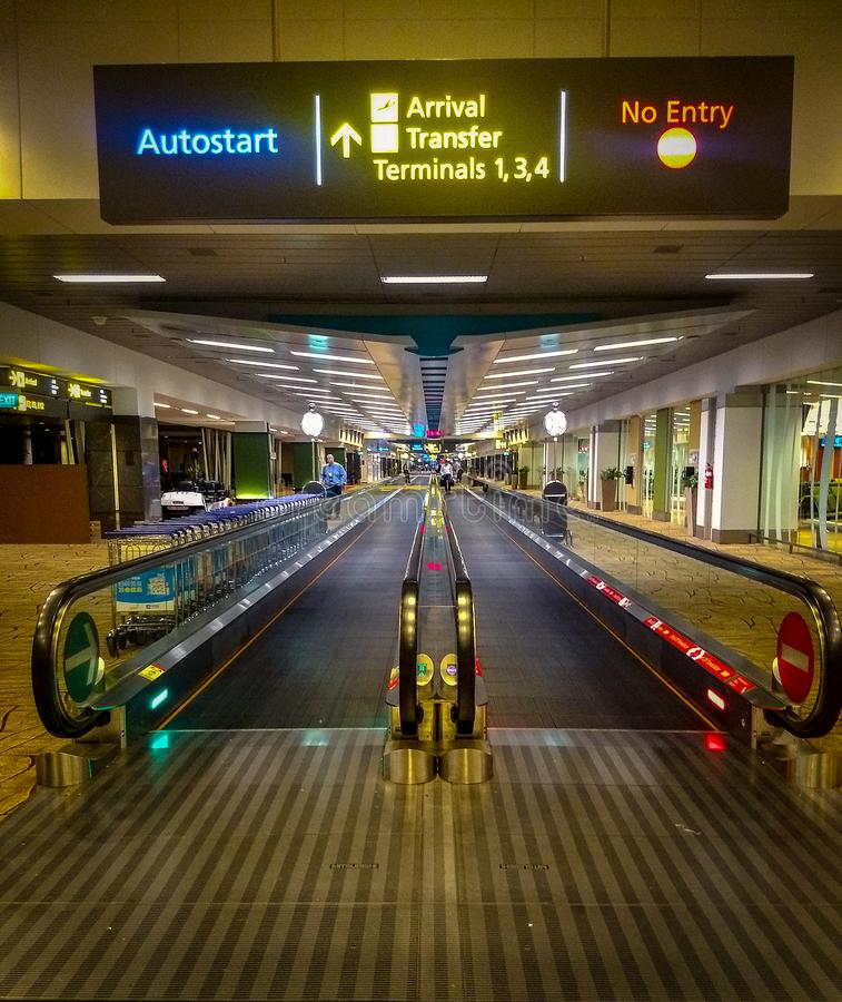 Inside view of singapore airport. Airport inside view. Airport accelerators. Inside view of singapore airport. Airport inside view. Airport. Travel royalty free stock photography