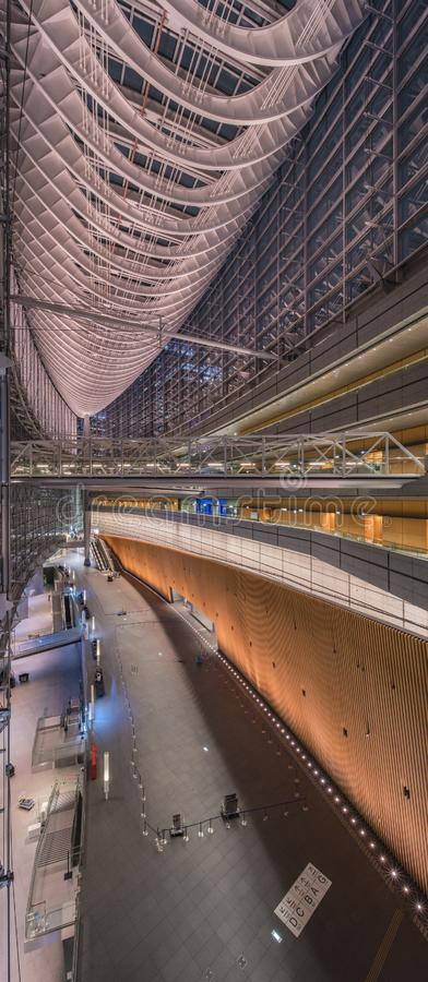 Inside view of Tokyo International Forum built in 1996 by Uruguayan architect Rafael Viñoly near Yurakucho station. It consists. Inside view of Tokyo stock photo