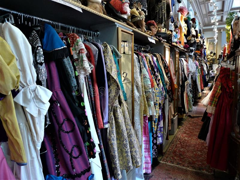 San Francisco, a vintage clothing store royalty free stock photography