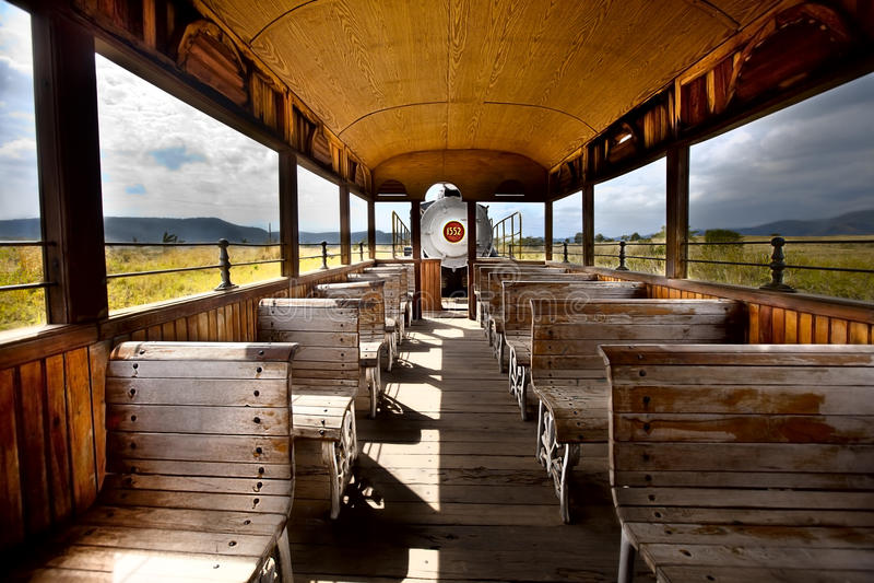 Inside the wagon stock image