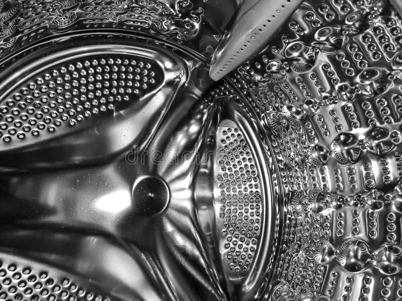 Inside of a washing machine drum stock image