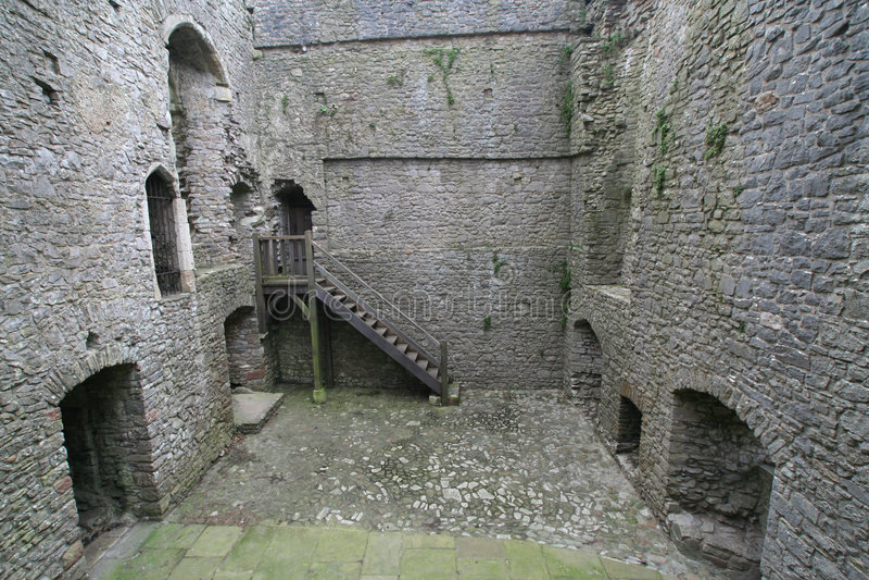 Inside Weobley castle royalty free stock image