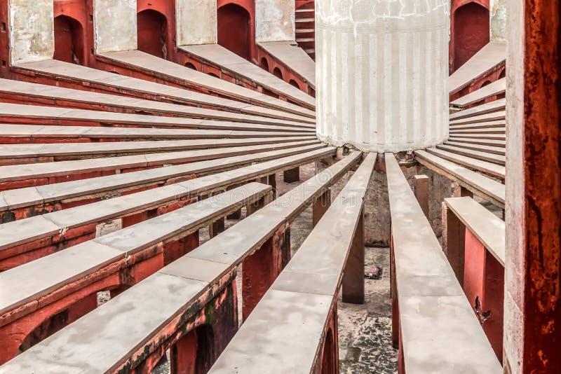 Inside widok Rama Yantra Jantar Mantar zdjęcia royalty free