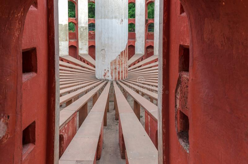 Inside widok Rama Yantra Jantar Mantar obrazy stock