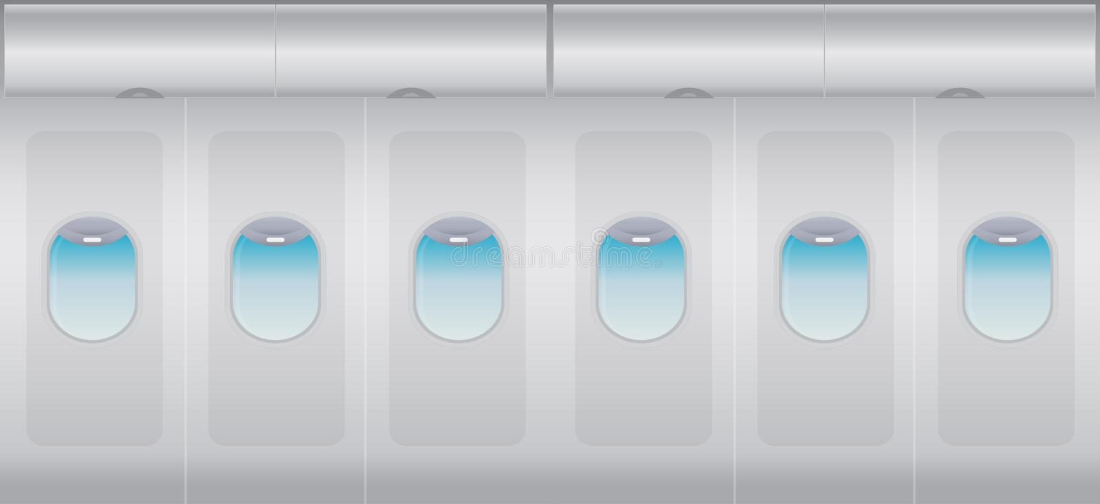 Download Inside Windows Of The White Airplane Stock Illustration - Image: 83707513
