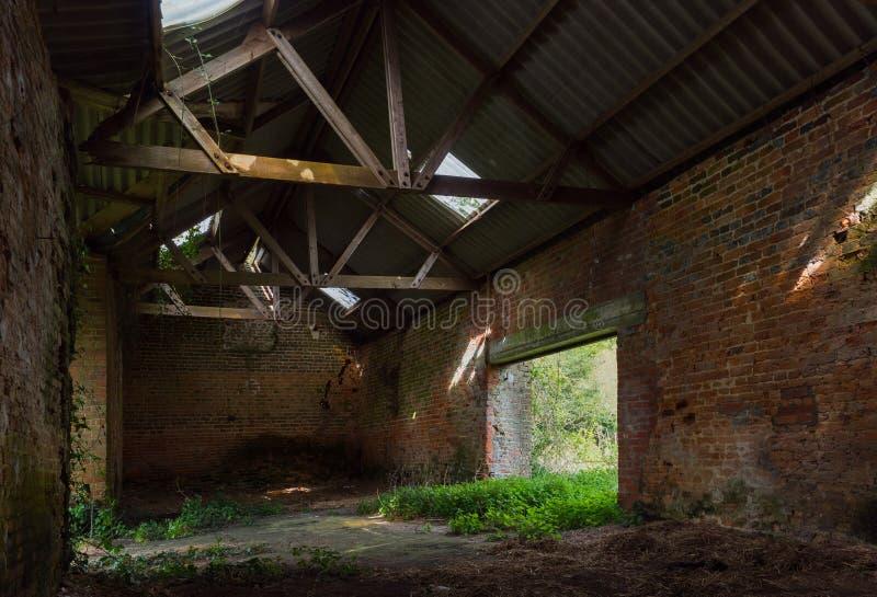 Inside zaniechany dom zdjęcia stock