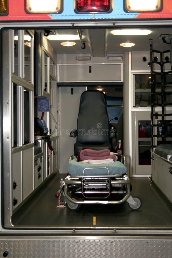 Insideof een ziekenwagen stock afbeeldingen