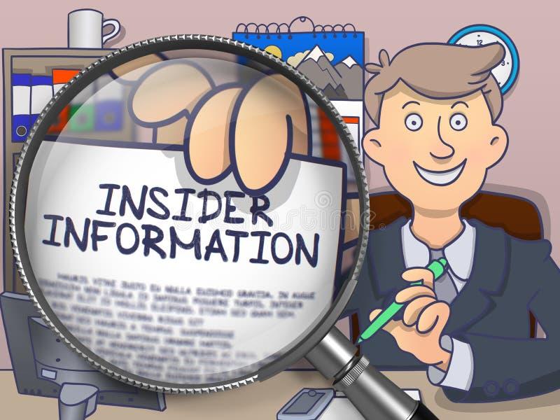 Insider Information through Lens. Doodle Style. vector illustration
