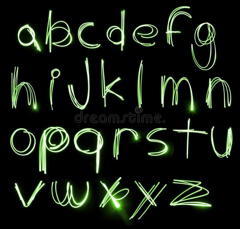 Insieme al neon di alfabeto illustrazione vettoriale