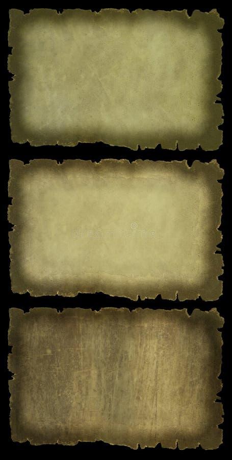 Insieme antico del documento isolato royalty illustrazione gratis