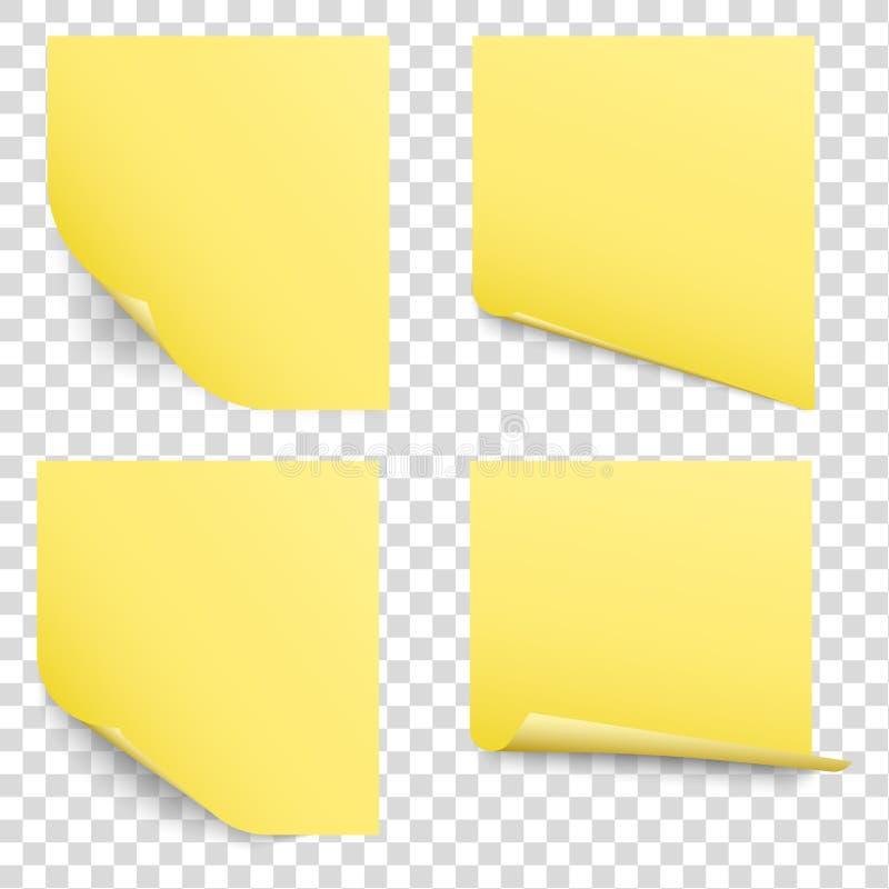 insieme appiccicoso di vettore delle note di ricordo illustrazione di stock