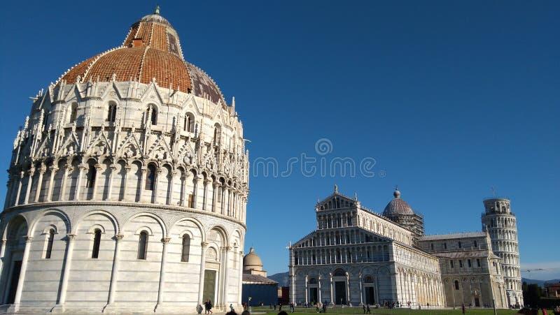 Insieme architettonico della cattedrale di Pisa, sito del patrimonio mondiale dell'Unesco fotografia stock libera da diritti