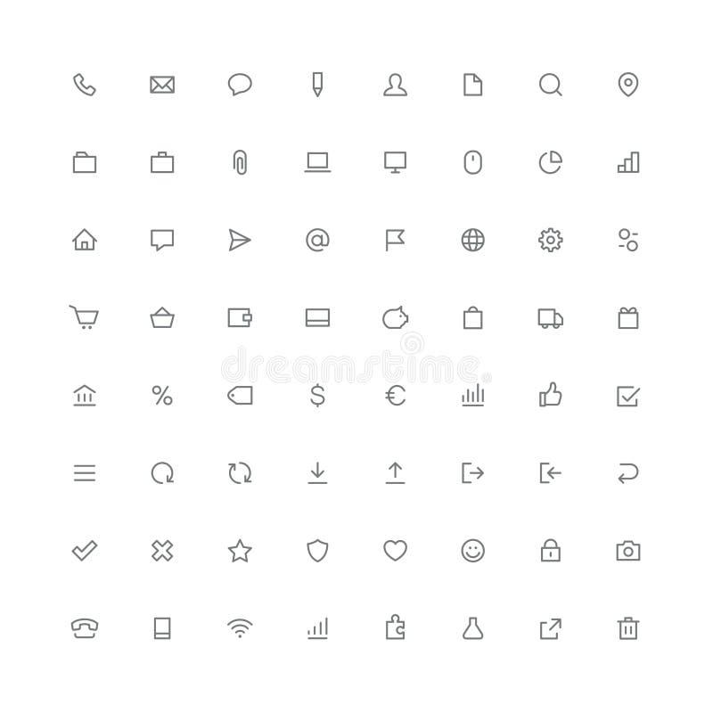 Insieme arrotondato totale dell'icona - simboli del sito Web royalty illustrazione gratis