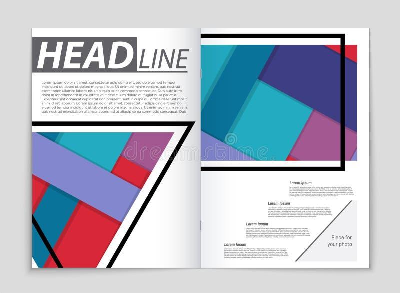 Insieme astratto del fondo della disposizione di vettore Per progettazione del modello di arte, lista, pagina anteriore, stile di illustrazione di stock