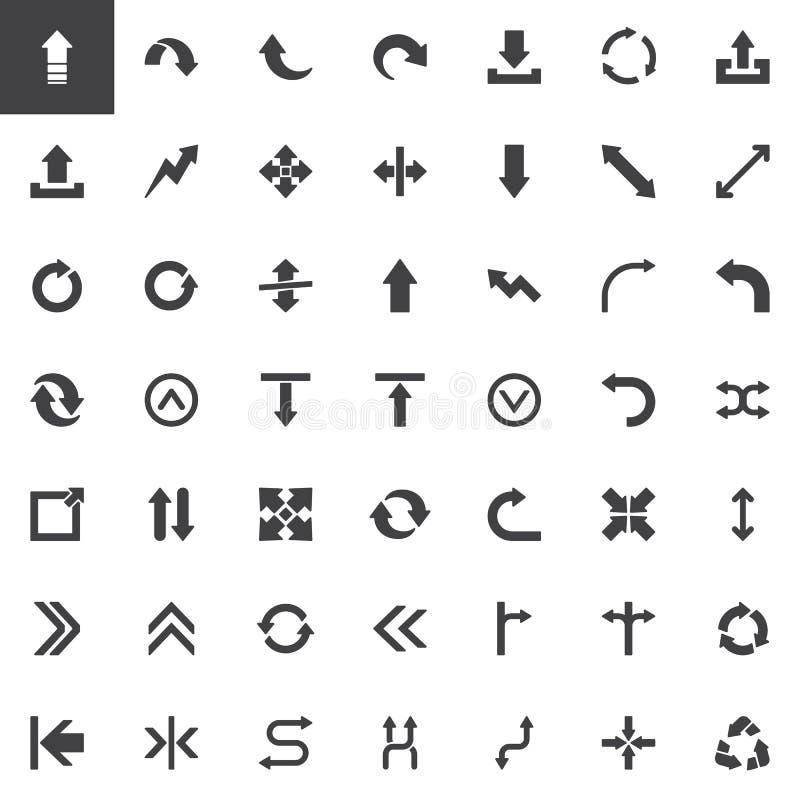 Insieme astratto delle icone di vettore delle frecce illustrazione vettoriale