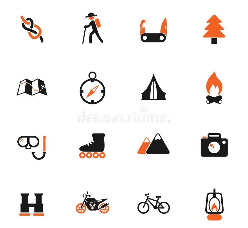 Insieme attivo dell'icona di ricreazione royalty illustrazione gratis