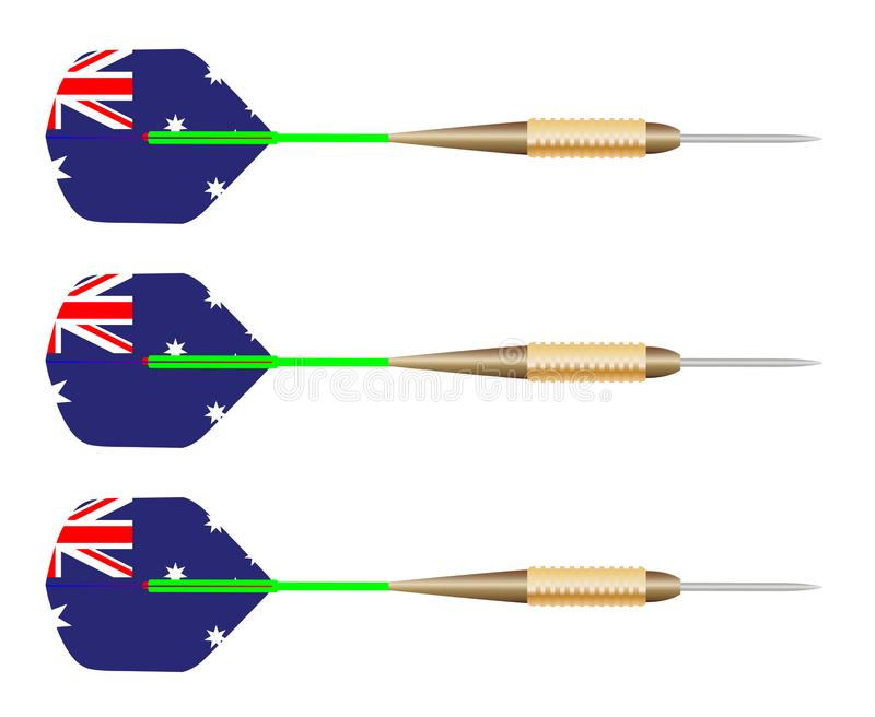 Insieme australiano della bandiera dei dardi illustrazione di stock