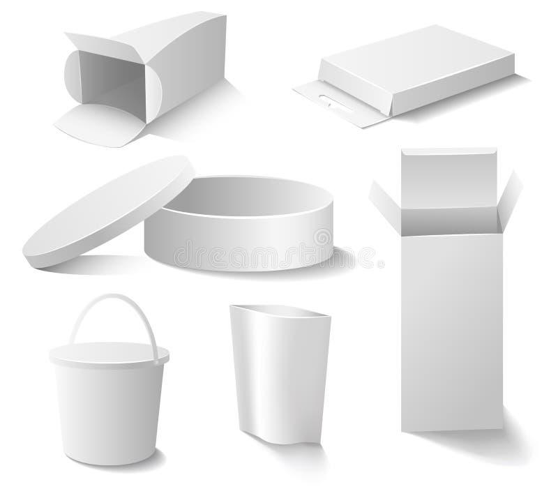 Insieme bianco del pacchetto illustrazione vettoriale