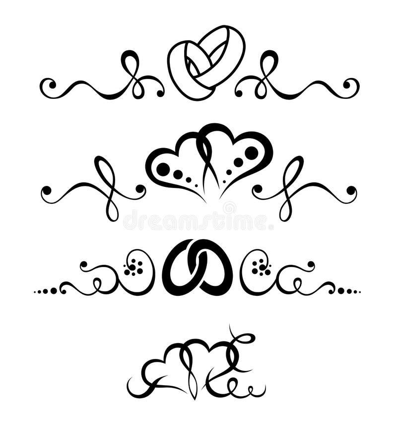 Insieme in bianco e nero di nozze del tatuaggio tribale fotografia stock libera da diritti