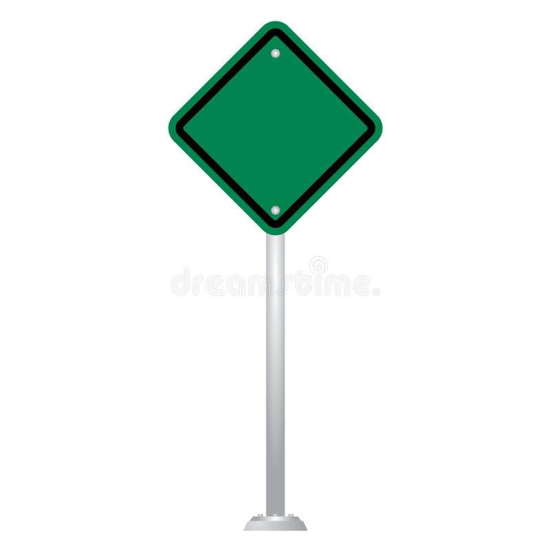 Insieme in bianco verde di vettore del bordo del segnale stradale illustrazione vettoriale