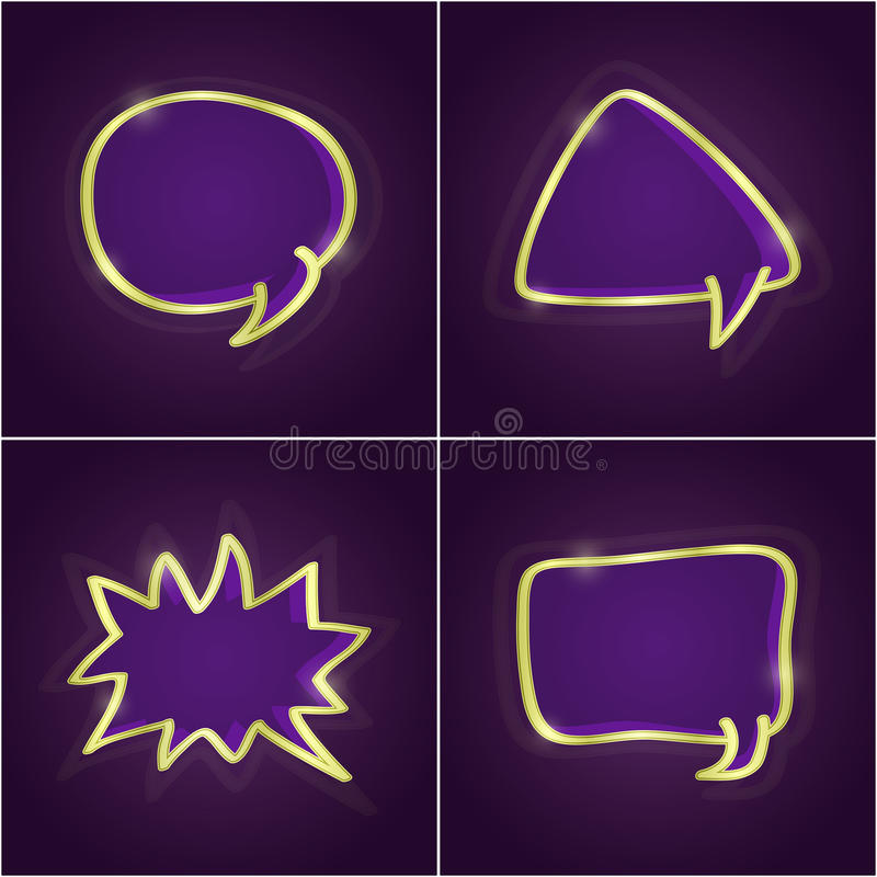 Insieme brillante scuro delle schede di discorso della bolla illustrazione vettoriale
